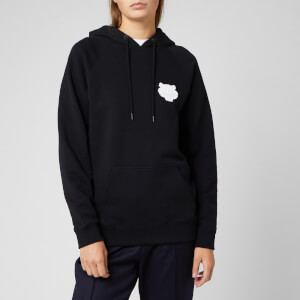 KENZO Women's Tiger Crest Cotton Moleton Hoodie - Black