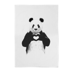 Panda Love Cotton Tea Towel