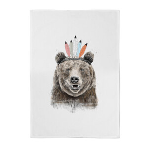 Native Bear Cotton Tea Towel