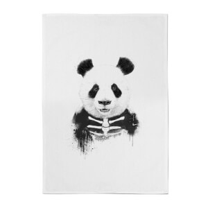 Skull Panda Cotton Tea Towel