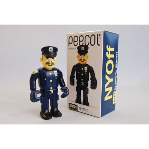 Kidrobot Peecol NY01 Nyoff New York Officer 3.5 Inch Figure Designed by Eboy