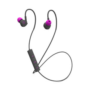 Mixx Memory Fit 1 Bluetooth Wireless Sports Earphones - Pink