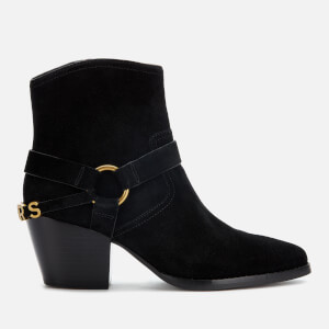 MICHAEL MICHAEL KORS Women's Goldie Suede Western Boots - Black