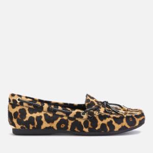 MICHAEL MICHAEL KORS Women's Sutton Leopard Moc Flats - Natural