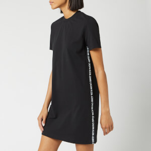 e51ec505f6f04 Calvin Klein Jeans Women's Tape Logo T-Shirt Dress - CK Black