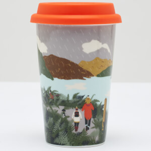 Joules White Rain Travel Mug