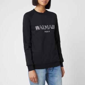 Balmain Women's Logo Sweatshirt - Black/Silver