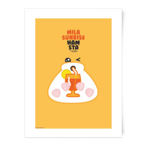 Hamsta Mila Sunrise Art Print