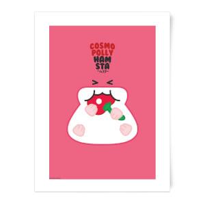 Hamsta Cosmo Polly Art Print