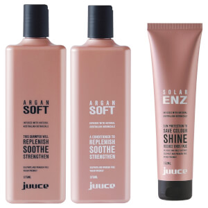 Juuce Argan Soft & Solar Enz Trio Pack (Worth $85.85)