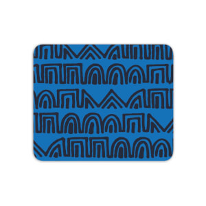 Mouse Mats Aztec Blue Pattern Mouse Mat