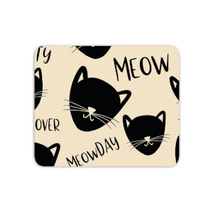 Mouse Mats Cat Meow Pattern Mouse Mat