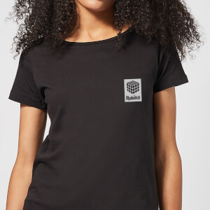 Rubik's Rubiks Box Pocket Women's T-Shirt - Black