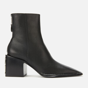 Alexander Wang Women's Parker Grained Leather Heeled Ankle Boots - Black