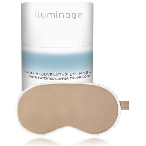 Iluminage Skin Rejuvenating Eye Mask with Anti-Aging Copper Technology – Gold
