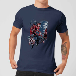 T-shirt Avengers: Endgame Shield Team - Homme - Bleu Marine