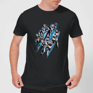 Avengers: Endgame Logo Team Men's T-Shirt - Black