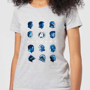 T-shirt Avengers: Endgame Heads - Femme - Gris