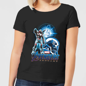 Avengers: Endgame War Machine Suit Damen T-Shirt - Schwarz