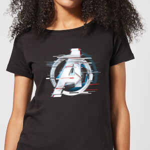 Avengers: Endgame White Logo Women's T-Shirt - Black
