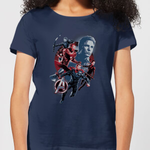 Avengers: Endgame Shield Team Damen T-Shirt - Navy Blau