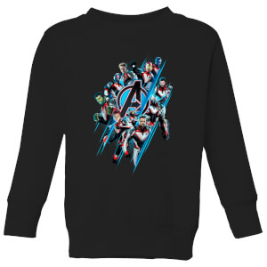 Sweat-shirt Avengers: Endgame Logo Team - Enfant - Noir