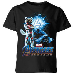 Avengers: Endgame Rocket Suit Kids' T-Shirt - Schwarz