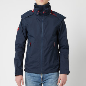 Superdry Men's Hooded Technical Cliff Hiker Jacket - Eclipse Navy/Hyper Red