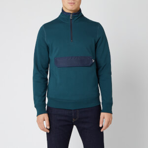 PS Paul Smith Men's Half Zip Pocket Sweatshirt - Navy