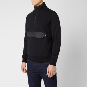 PS Paul Smith Men's Half Zip Pocket Sweatshirt - Black