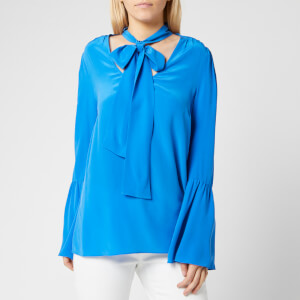 MICHAEL MICHAEL KORS Women's Bell Sleeve Silk Top - Grecian Blue