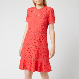 MICHAEL MICHAEL KORS Women's Eyelet Mix Dress - Sea Coral