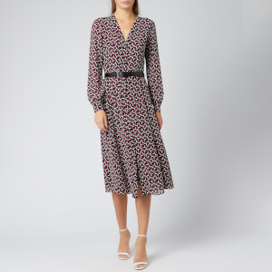 MICHAEL MICHAEL KORS Women's Foulard Shirt Dress With Belt - Garnet