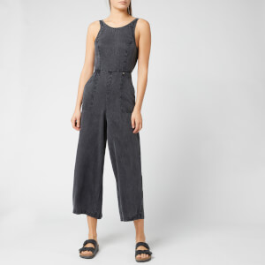 Superdry Women's Ingrid Culotte Jumpsuit - Acid Wash Black