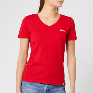 Superdry Women's Ol Essential Vee T-Shirt - Rouge Red