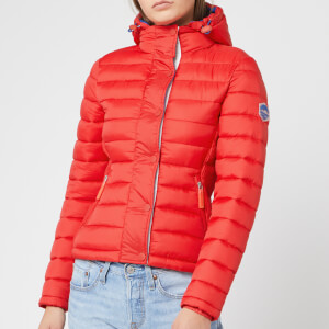 Superdry Women's Fuji Slim Double Zip Hoody - Red