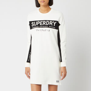 Superdry Women's Panel Graphic Sweat Dress - Chalk White