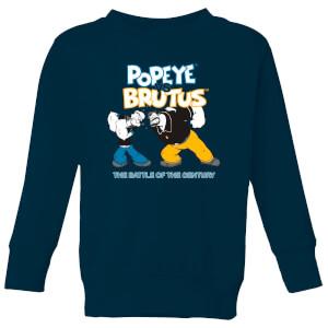 Popeye vs Brutus kindertrui - Navy