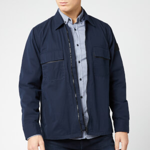 BOSS Men's Lovel Zip Overshirt - Navy