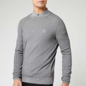 BOSS Men's Akustor Knit Jumper - Grey