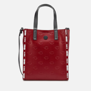 KENZO Women's Eye Allover Embossed Mini Tote Bag - Red