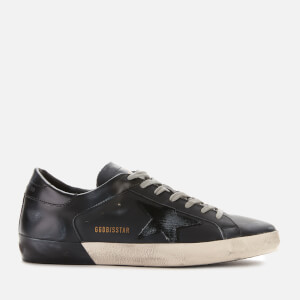 Golden Goose Deluxe Brand Men's Superstar Leather Trainers - Black/Black Foxing