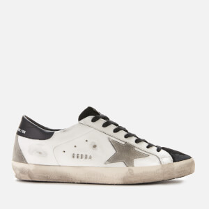 Golden Goose Deluxe Brand Men's Superstar Leather Trainers - White Black Suede/Ice Star