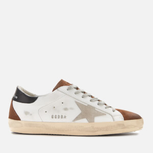 Golden Goose Deluxe Brand Men's Superstar Leather Trainers - White Mud Suede/Ice Star
