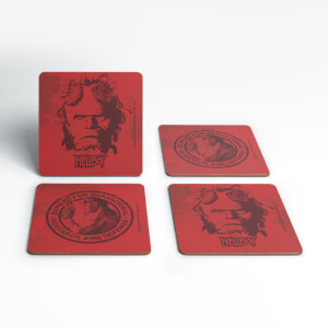 Hellboy B.P.R.D. Hero Coaster Set