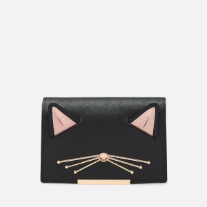 Kate Spade New York Women's Cat Flap Bag Accessory - Black Multi