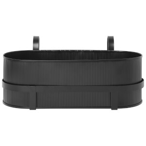 Ferm Living Bau Balcony Pot - Black