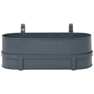 Ferm Living Bau Balcony Pot - Dark Blue
