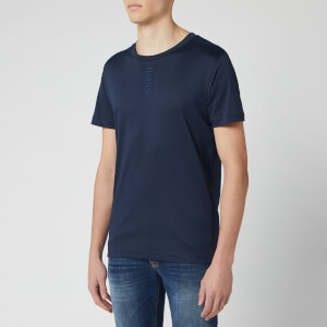 BOSS Men's Talbo Vertical Small Logo T-Shirt - Navy