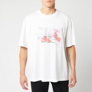 Maison Margiela Men's Oversize Rip Print T-Shirt - White